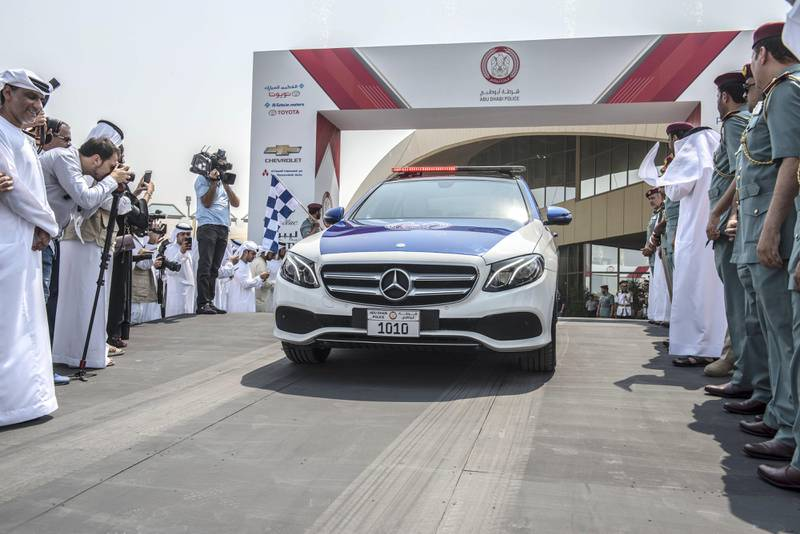 Abu Dhabi, UAE: Abu Dhabi Police unveils new patrol with new emblem launced at the Armed Forces Officers Club in Abu Dhabi,UAE, on 17 September 2017, Vidhyaa for The National