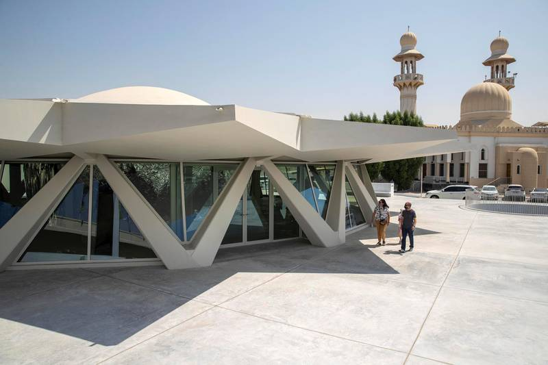 SHARJAH, UNITED ARAB EMIRATES. 23 SEPTEMBER 2020. The newly launched Sharjah Art Foundation space called the Flying Saucer building. (Photo: Antonie Robertson/The National) Journalist: Alexandra Chaves. Section: Arts & Life.