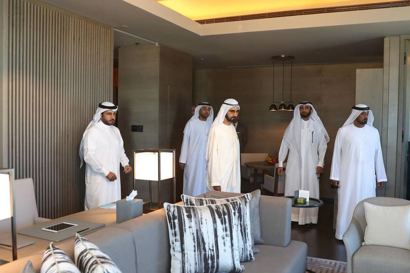 Government of Dubai Media Office – 5 March 2018: Vice President and Prime Minister of the UAE and Ruler of Dubai His Highness Sheikh Mohammed bin Rashid Al Maktoum today visited Bluewaters Island, the new man-made island developed by Meraas off the coast of the Jumeirah Beach Residence opposite to The Beach. Wam