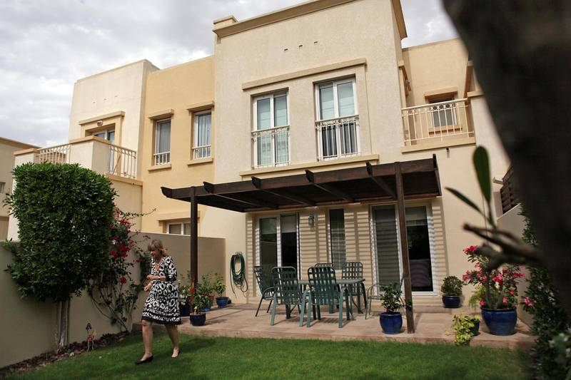 """United Arab Emirates - Dubai - April 13, 2011.  HOUSE & HOME: """"The Travel Collection"""" managing director Jacqueline Campbell (cq-al) shows off her 6-year-old villa in the Springs in Dubai on Wednesday, April 13, 2011. """"I love the serenity and the peacefulness of it,"""" said Campbell. """"It's got memories. My home is my haven when I come back from my travels."""" Amy Leang/The National"""