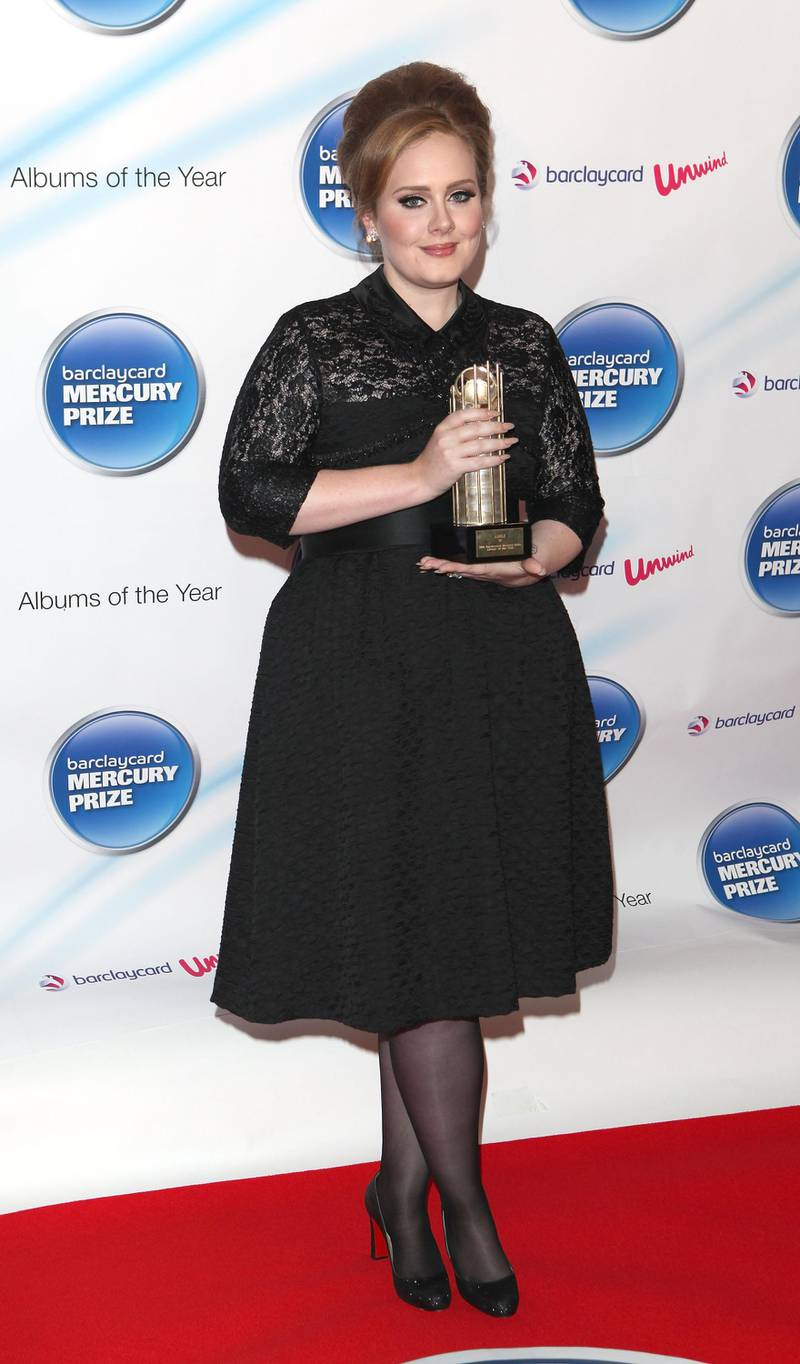 LONDON, ENGLAND - SEPTEMBER 06:  Adele attends the Barclaycard Mercury Prize at Grosvenor House on September 6, 2011 in London, England.  (Photo by Tim Whitby/Getty Images)