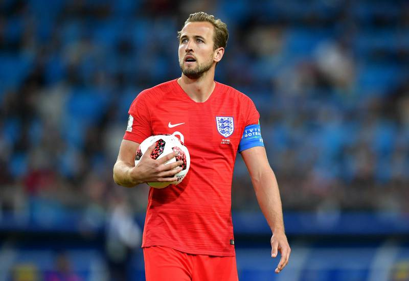 MOSCOW, RUSSIA - JULY 03:  Harry Kane of England looks on during the 2018 FIFA World Cup Russia Round of 16 match between Colombia and England at Spartak Stadium on July 3, 2018 in Moscow, Russia.  (Photo by Dan Mullan/Getty Images)