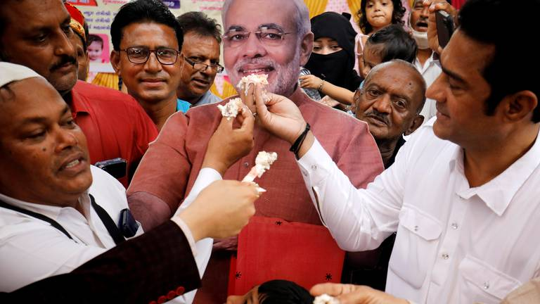 An image that illustrates this article Modi's birthday celebrations spark joy and criticism in India