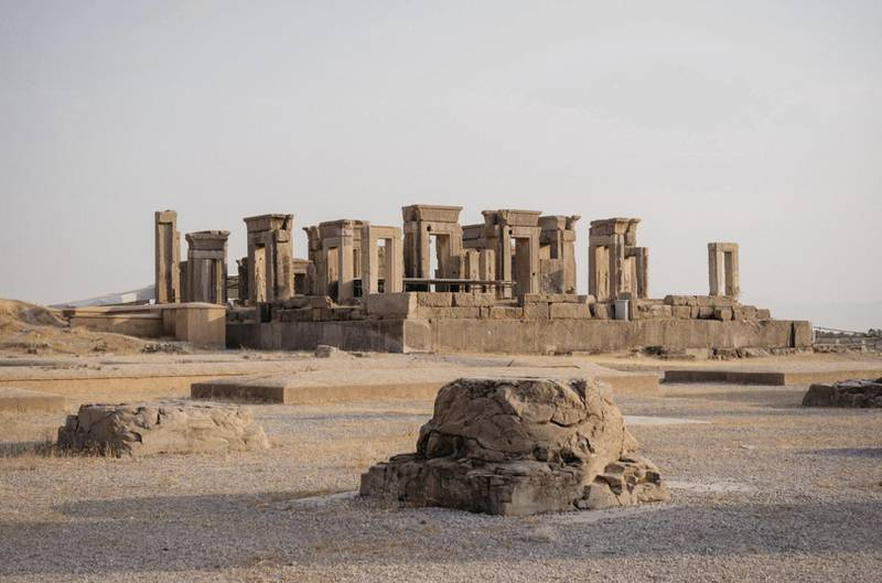 The Tachara, also referred to as the Palace of Darius the Great, Ancient city of Persepolis. Photo: Christopher Wilton-Steer and The Aga Khan Development Network