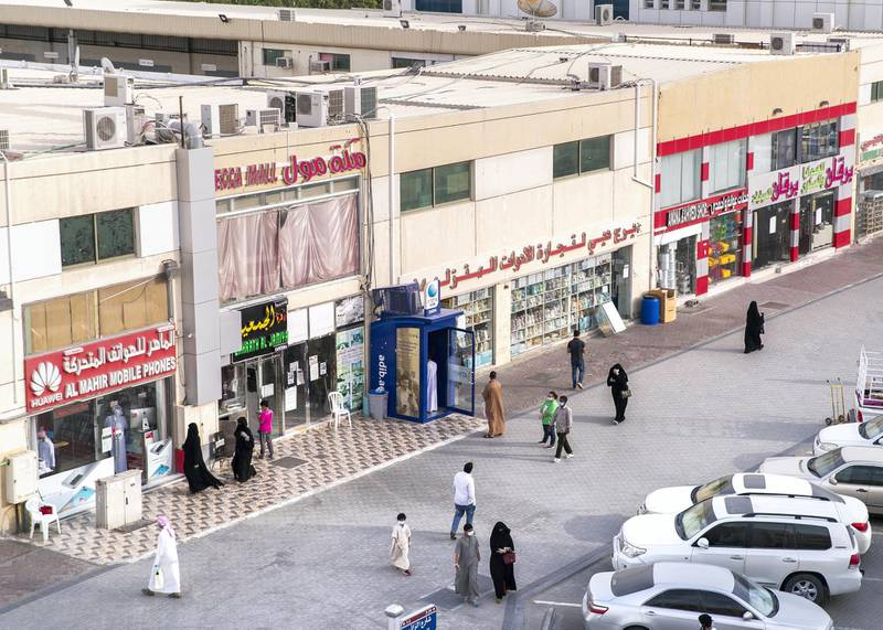 ABU DHABI, UNITED ARAB EMIRATES. 2- MAY 2020.Baniyas neighborhood busy with customers shopping for Eid Al Fitr.(Photo: Reem Mohammed/The National)Reporter:Section: