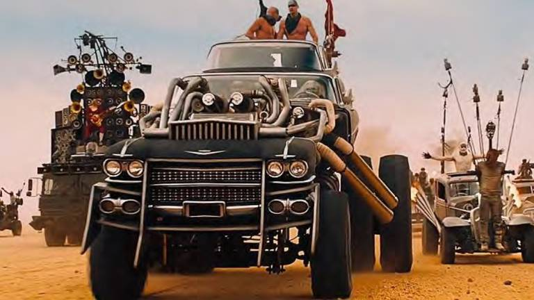 An image that illustrates this article Thirteen apocalypse-ready cars from 'Mad Max: Fury Road' to be auctioned