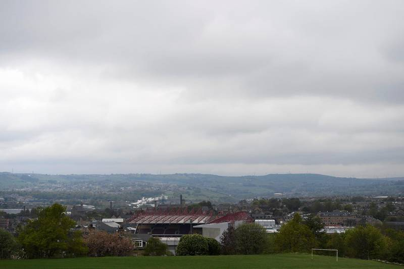 BRADFORD, ENGLAND - APRIL 30: A general view of the Utilita Energy Stadium, home of Bradford City Football Club on April 30, 2020 in Bradford, England. British Prime Minister Boris Johnson, who returned to Downing Street this week after recovering from Covid-19, said the country needed to continue its lockdown measures to avoid a second spike in infections. (Photo by George Wood/Getty Images)