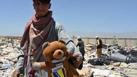 Impoverished Afghans live off giant scrapheap after US abandons Bagram airbase