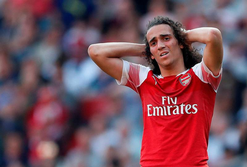 """Soccer Football - Premier League - Arsenal v Crystal Palace - Emirates Stadium, London, Britain - April 21, 2019  Arsenal's Matteo Guendouzi looks dejected   Action Images via Reuters/Matthew Childs  EDITORIAL USE ONLY. No use with unauthorized audio, video, data, fixture lists, club/league logos or """"live"""" services. Online in-match use limited to 75 images, no video emulation. No use in betting, games or single club/league/player publications.  Please contact your account representative for further details."""