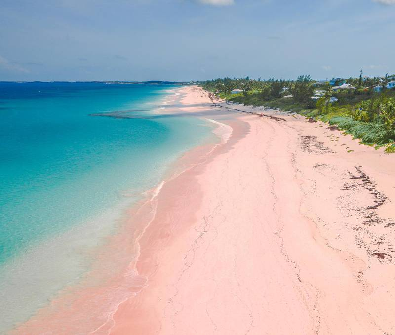 Pink Sand, Beach, Harbour Island, The Bahamas. Getty Images