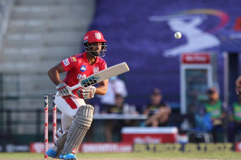 Nicholas Pooran of Kings XI Punjab plays a shot during match 24 of season 13 of the Dream 11 Indian Premier League (IPL) between the Kings XI Punjab and the Kolkata Knight Riders at the Sheikh Zayed Stadium, Abu Dhabi  in the United Arab Emirates on the 10th October 2020.  Photo by: Pankaj Nangia  / Sportzpics for BCCI