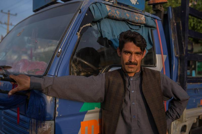 Truck driver Shir Aga, 28, was kidnapped and later solved his case in a Taliban court in rural Herat. Stefanie Glinski for The National