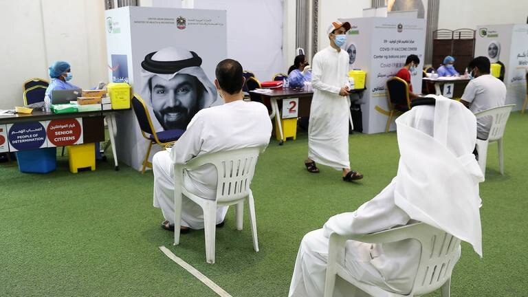 An image that illustrates this article Emiratis in Ajman answer Covid-19 vaccination call