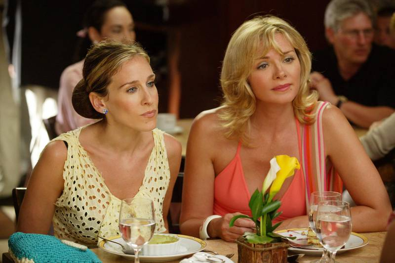 Sarah Jessica Parker and Kim Cattrall star in Sex in the City. Courtesy HBO