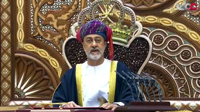 An image that illustrates this article Oman's Sultan Haitham announces Cyclone Shaheen emergency fund
