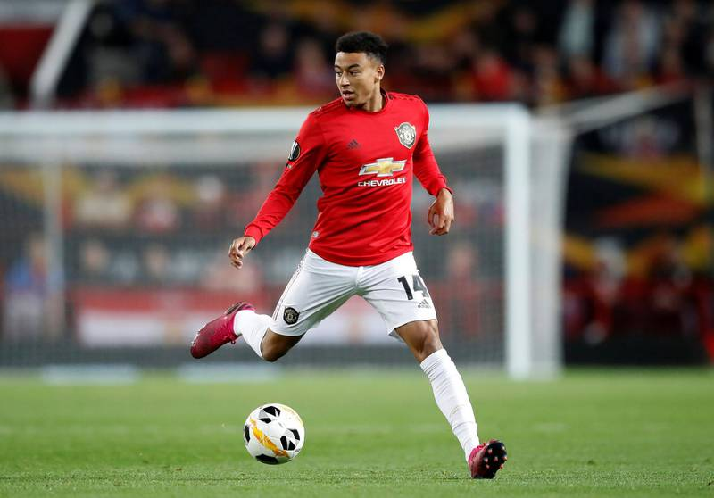Manchester United's Jesse Lingard during the UEFA Europa League Group L match at Old Trafford, Manchester.