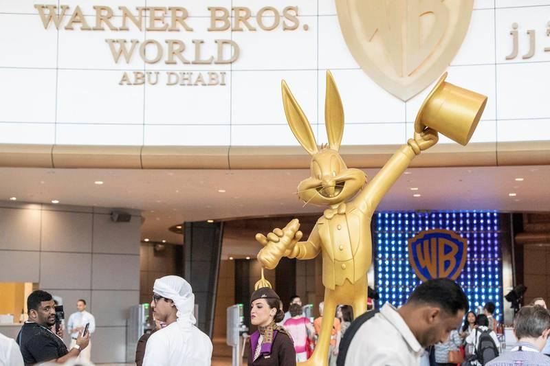 ABU DHABI, UNITED ARAB EMIRATES. 24 JULY 2018. Warner Brother World on Yas Island West. Media tour of the Warner Bros World Abu Dhabi opening. Entrance to the park. (Photo: Antonie Robertson/The National) Journalist: Haneen Dajani. Section: National.