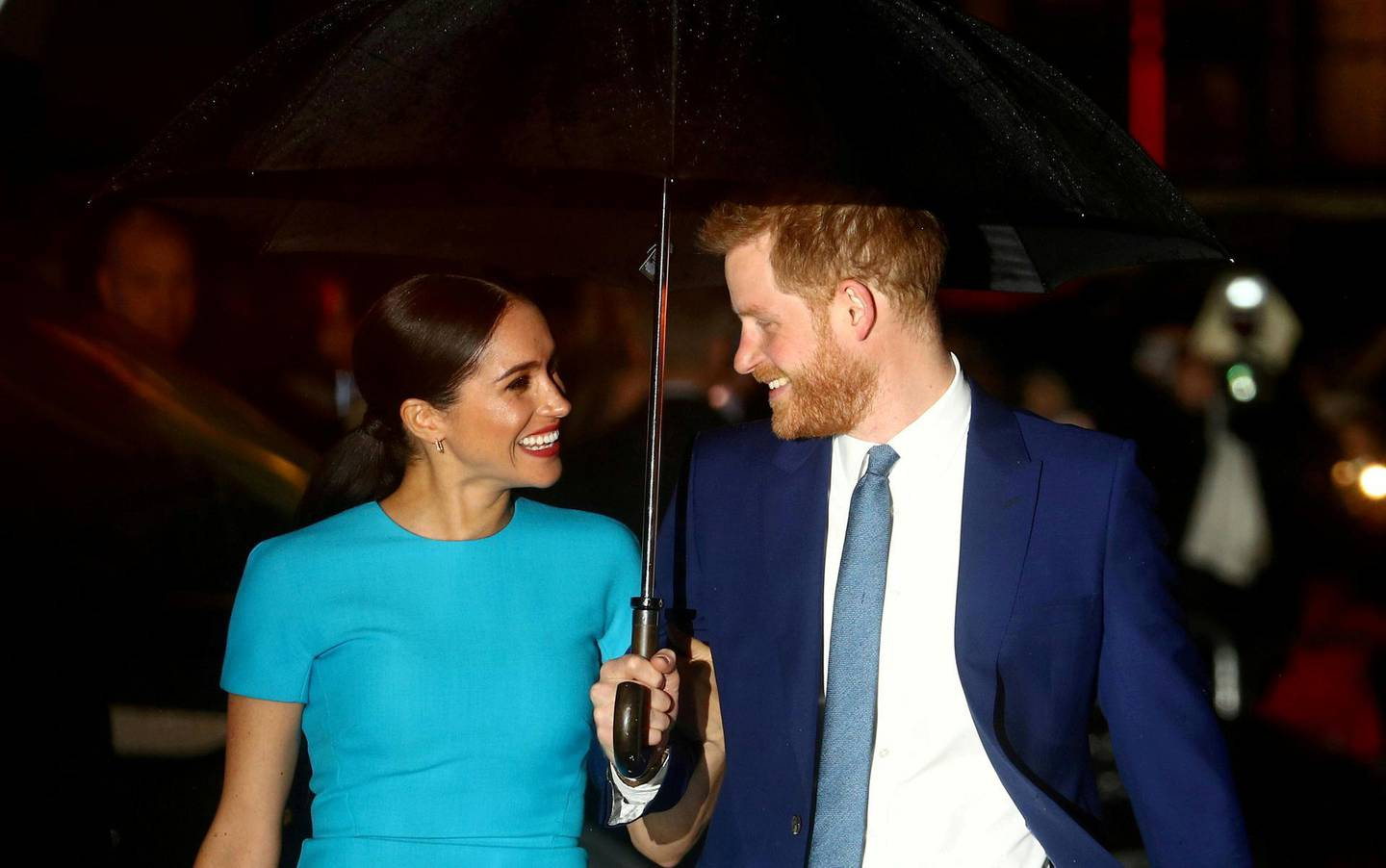 FILE PHOTO: Britain's Prince Harry and his wife Meghan, Duchess of Sussex, arrive at the Endeavour Fund Awards in London, Britain, March 5, 2020. REUTERS/Hannah McKay/File Photo/File Photo