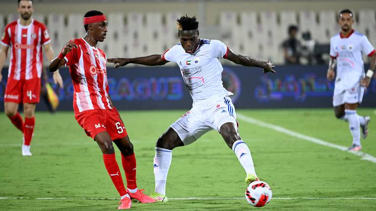 An image that illustrates this article Late Sharjah goals inflict first league defeat on Al Jazira