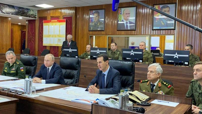 Russian President Vladimir Putin meets with Syria's President Bashar al-Assad in Damascus, Syria in this handout released by SANA on January 7, 2020. SANA/Handout via REUTERS ATTENTION EDITORS - THIS IMAGE WAS PROVIDED BY A THIRD PARTY. REUTERS IS UNABLE TO INDEPENDENTLY VERIFY THIS IMAGE
