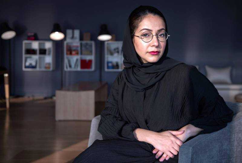 Abu Dhabi, United Arab Emirates, October 22, 2019.  STORY BRIEF: Profile piece on Emirati artist Alaa Edris, who recently opened her first solo exhibition in Dubai.  SUBJECT NAME: Alaa Edris Victor Besa/The NationalSection:  Arts & CultureReporter:  Alexandra Chaves