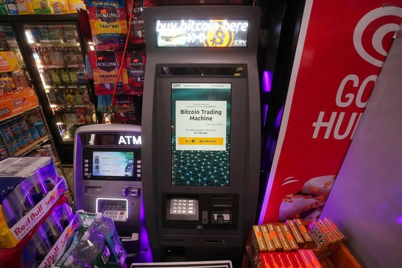 FILE PHOTO: Bitcoin Trading Machine is pictured in a bodega in the Manhattan borough of New York City, New York, U.S., February  9, 2021. REUTERS/Carlo Allegri/File Photo