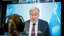 UN chief warns leaders that pandemic may cause historic famine