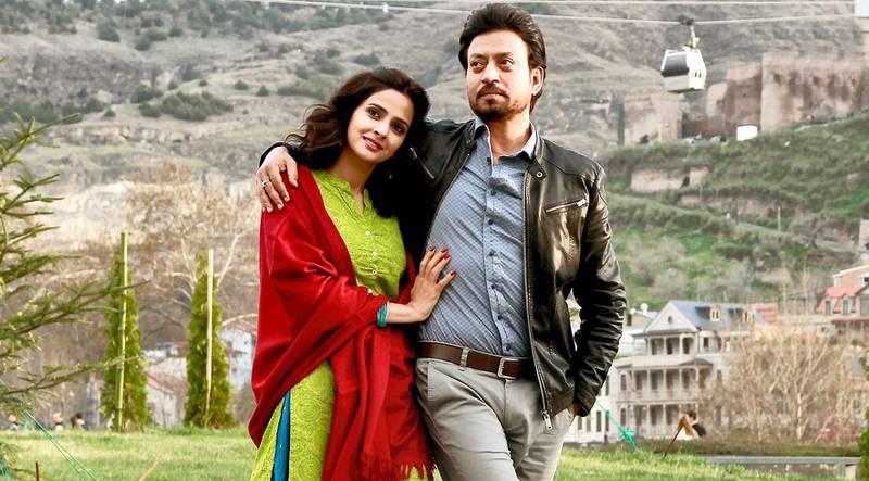 Irrfan Khan and Saba Qamar in Hindi Medium. Courtesy T-Series and Maddock Films