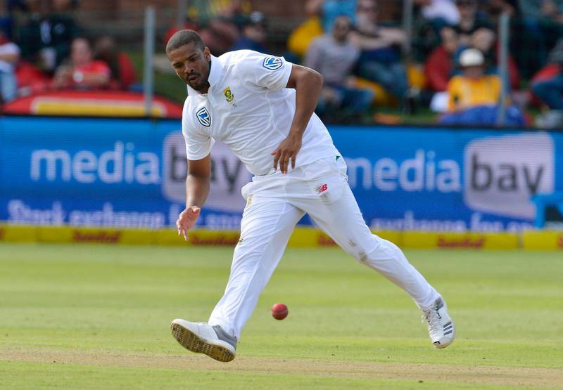 PORT ELIZABETH, SOUTH AFRICA - MARCH 09: Vernon Philander of South Africa during day 1 of the 2nd Sunfoil Test match between South Africa and Australia at St Georges Park on March 09, 2018 in Port Elizabeth, South Africa. (Photo by Ashley Vlotman/Gallo Images/Getty Images)