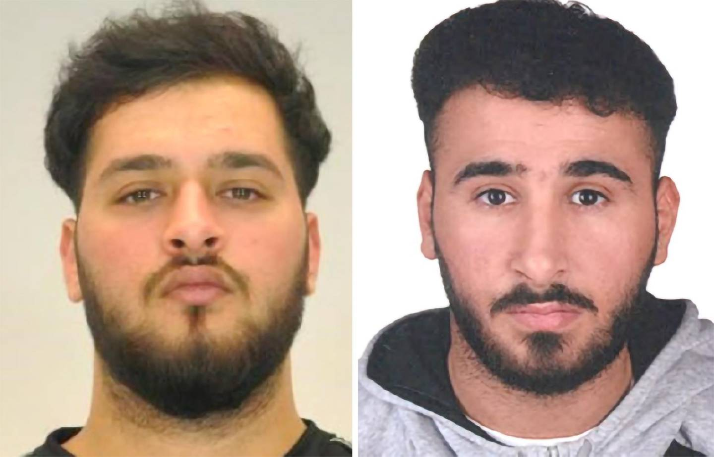 epa08825493 Two mugshots made available by the Dresden police show Mohamed REMMO (21, L) and Abdul Majed REMMO (21, R) who are being searched for in connection with the robbery in the Green Vault in Dresden.  According to a police report three people have been arrested in relation to the November 2019 robbery of the Dresden's Treasury Green Vault.  EPA/POLICE HANDOUT  HANDOUT EDITORIAL USE ONLY/NO SALES