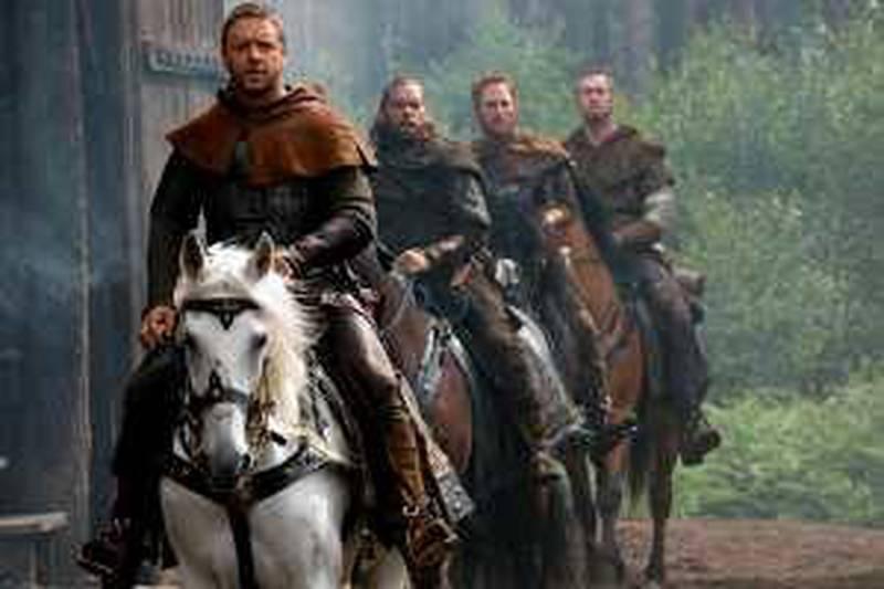 Russell Crowe star as Robin Hood in Universal Pictures' Robin Hood.  Courtesy of Universal Pictures