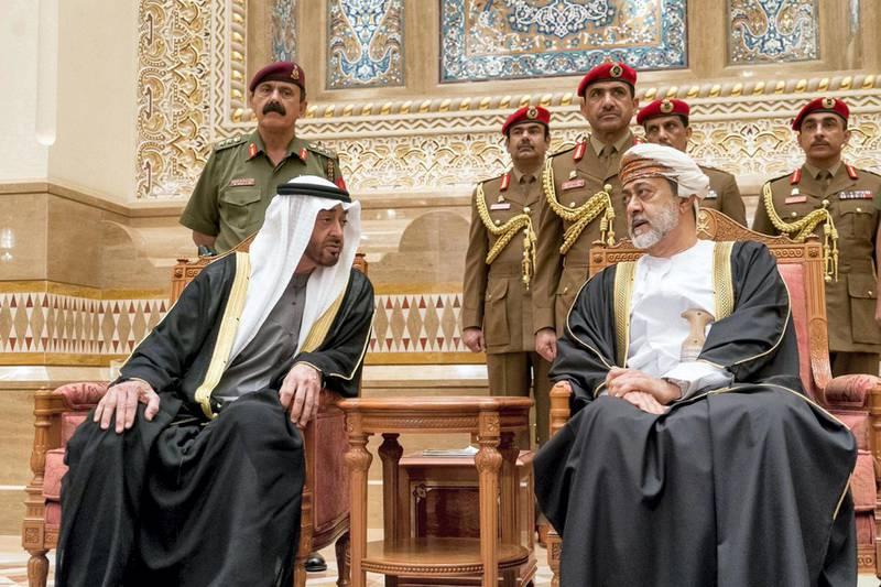 Oman's Sultan Haitham bin Tariq in the Omani capital Muscat.