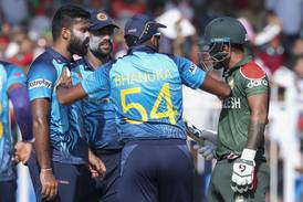 T20 World Cup: Unruly scenes between Sri Lanka and Bangladesh players