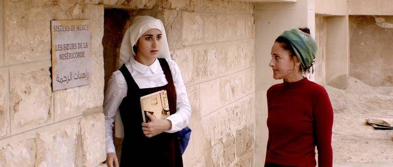 """Handout of AVE MARIA"""" Film, the Short Film Competition at Cannes Film Festival, directed by Basil Khalil. Courtesy of MAD Solutions and Quat Media.  NOTE: For Christopher Newbould Story, May 2015. *** Local Caption ***  al25ma-Ave Maria-1-p4.jpg"""