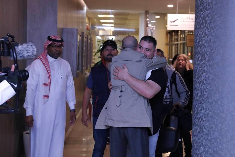 Riyadh, Saudi Arabia. November 26: World Champion Andy Ruiz landed in Saudi Arabia for the Clash On The Dunes. Courtesy Diriyah Season