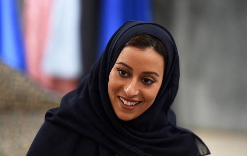 President of the Arab Fashion Council in Saudi Arabia Princess Noura bint Faisal Al-Saud smiles during an interview with AFP at the al-Faisaliyah mall in the Saudi capital Riyadh on April 19, 2018. - The princess inspired by her time living in Tokyo is the new face of fashion in an ultraconservative kingdom, where dramatic reforms have sparked equal parts optimism and scepticism. (Photo by FAYEZ NURELDINE / AFP)