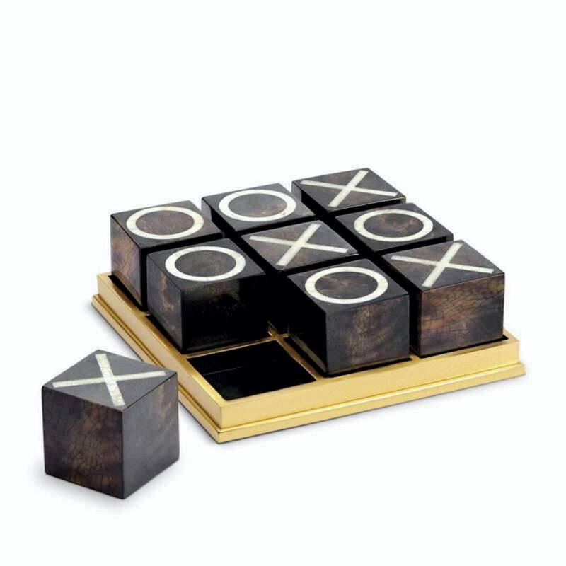 Brass tic tac toe, Dh3,925, L'objet, at Tanagra
