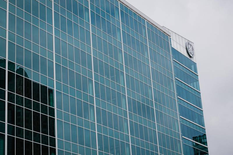 A General Electric (GE) building stands in Downtown Cincinnati, Ohio, U.S., on Thursday, July 16, 2020. Seventy percent of Cincinnati's revenue comes from taxes on wages, and with the coronavirus continuing to spread, leaving record joblessness in its wake, Mayor John Cranley said he fears permanent declines in essential services. Photographer: Andrew Cenci/Bloomberg