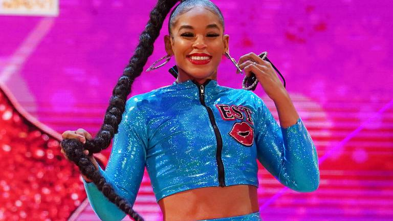 An image that illustrates this article WWE's Bianca Belair on making history in Saudi Arabia: 'It's an amazing feeling'