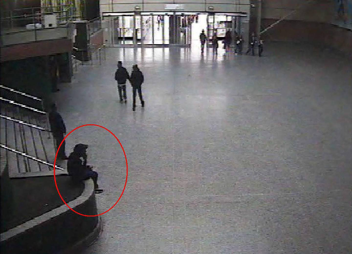 """(FILES) In this file photo taken on May 21, 2017 shows suicide bomber Salman Abedi sitting in the foyer of the Manchester Arena on May 21, 2017. Security teams at Britain's Manchester Arena """"should have prevented or minimised"""" the impact of the 2017 terror attack at an Ariana Grande concert that killed 22 people, a public inquiry found on June 17, 2021. - RESTRICTED TO EDITORIAL USE - MANDATORY CREDIT """"AFP PHOTO / Manchester Arena Inquiry """" - NO MARKETING - NO ADVERTISING CAMPAIGNS - DISTRIBUTED AS A SERVICE TO CLIENTS  / AFP / Manchester Arena Inquiry  / - / RESTRICTED TO EDITORIAL USE - MANDATORY CREDIT """"AFP PHOTO / Manchester Arena Inquiry """" - NO MARKETING - NO ADVERTISING CAMPAIGNS - DISTRIBUTED AS A SERVICE TO CLIENTS"""