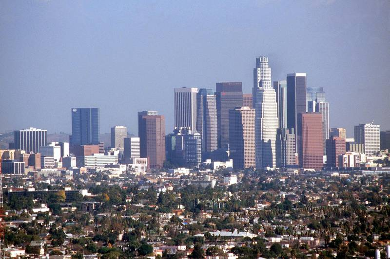 (dpa files) - A view of the skyline of Los Angeles, California, January 1999. Photo by: Jerzy Dabrowski/picture-alliance/dpa/AP Images