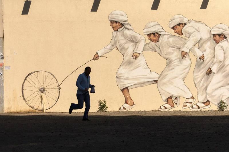 Dubai, United Arab Emirates, May 26, 2017:     Street art along December 2 streetin the Al Satwa area of Dubai on May 26, 2017. Christopher Pike / The NationalJob ID: 34726Reporter:  N/ASection: NewsKeywords: