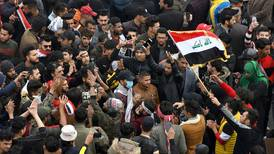 Iraq's anti-government protesters rally as fears of US-Iran war recede