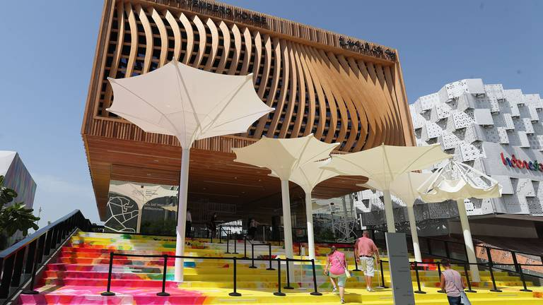 An image that illustrates this article Black Forest timber frames only pavilion at Expo representing a region
