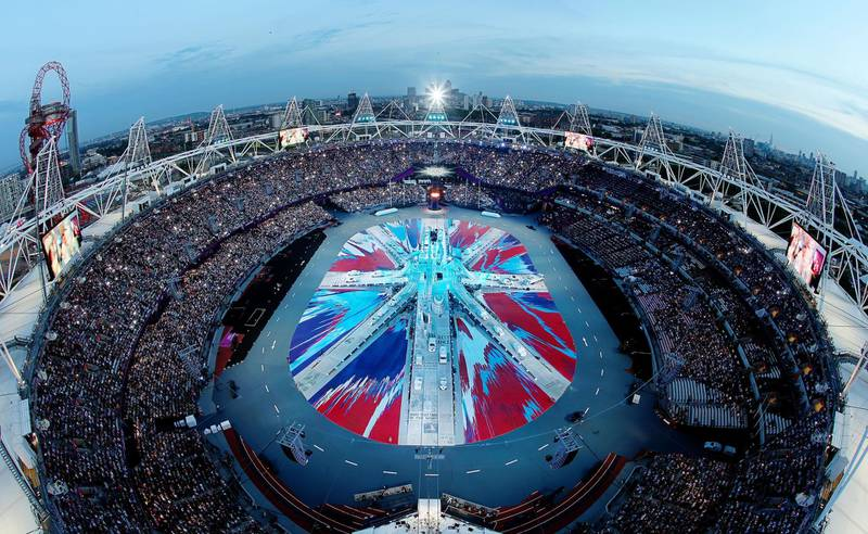 LONDON, ENGLAND - AUGUST 12:  A general view of the stadium during the Closing Ceremony on Day 16 of the London 2012 Olympic Games at Olympic Stadium on August 12, 2012 in London, England.  (Photo by Rob Carr/Getty Images)