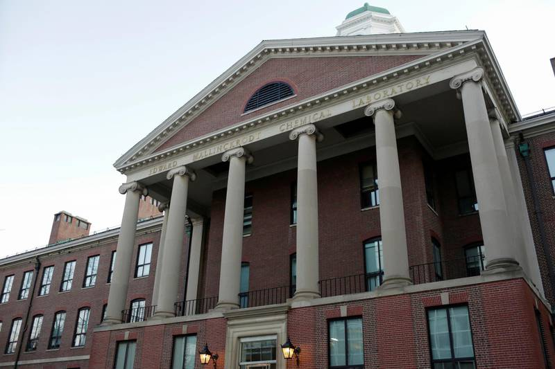 FILE PHOTO: The exterior of The Department of Chemistry and Chemical Biology at Harvard University.  The head of the department, Dr. Charles Lieber, is charged with lying to the federal authorities in connection with aiding China, at Harvard University in Cambridge, Massachusetts, U.S. January 30, 2020.  REUTERS/Katherine Taylor/File Photo