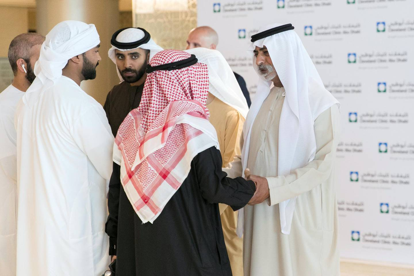 ABU DHABI, UNITED ARAB EMIRATES - JANUARY 22, 2019.Sheikh Nahyan bin Mubarak Al Nahyan, Minister of Tolerance, met today with UAE's transplant patients in Cleveland Hospital.(Photo by Reem Mohammed/The National)Reporter: SHIREENASection:  NA