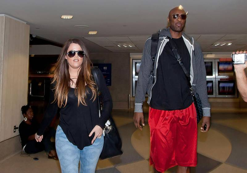 LOS ANGELES, CA - JULY 22:  Khloe Kardashian and Lamar Odom are seen at Los Angeles International Airport on July 22, 2012 in Los Angeles, California.  (Photo by GVK/Bauer-Griffin/GC Images)