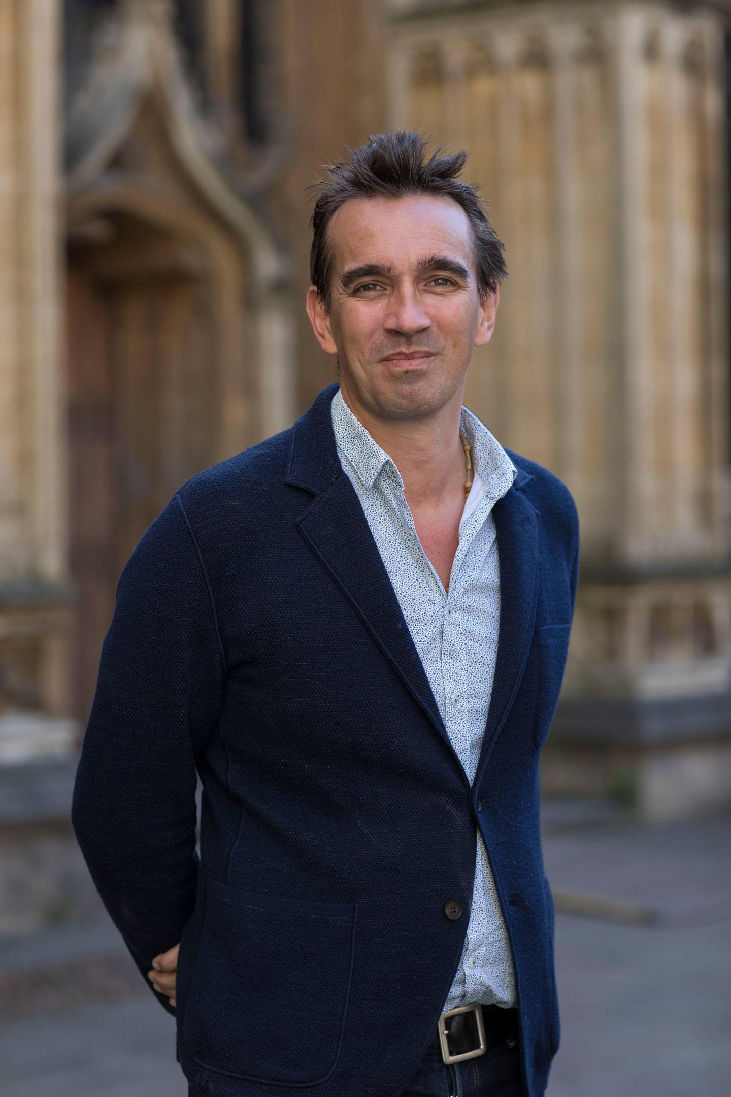 OXFORD, ENGLAND - APRIL 01:  Peter Frankopan, historian and author, at the FT Weekend Oxford Literary Festival on April 1, 2017 in Oxford, England.  (Photo by David Levenson/Getty Images)