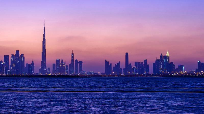 Dazzling Dubai at night. Courtesy Dubai Tourism